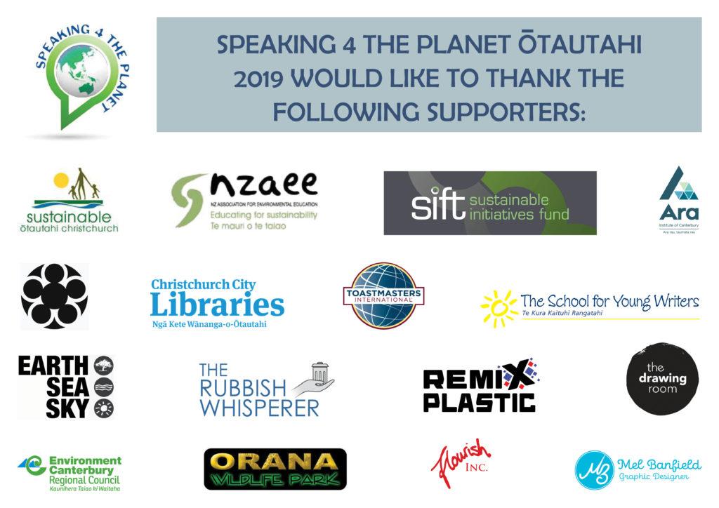 Speaking 4 the Planet sponsors